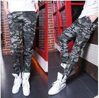Free shipping 2014 autumn fashion camouflage pants men military pants slim elastic trousers men casual pants