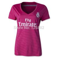 Thai quality  14-15 Season Real Madrid woman away, Real madrid pink female jersey 7# Ronaldo, new season woman pink real madrid