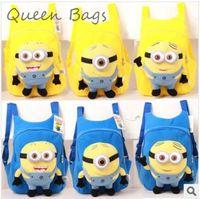 New Popular 2014 fashion  Girl children Minions backpack Kids High quality students school bag  Boy Travel bag S2925