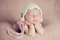 Free shipping new coming flower style baby hat handmade crochet photography props newborn baby cap