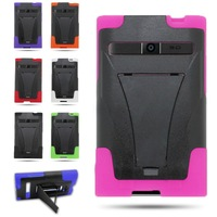 For LG Optimus Logic L35g Dynamic L38c Heavy Duty Hybrid Dual Skin Kickstand Slim Cover Cell Phone Case,Free Shipping