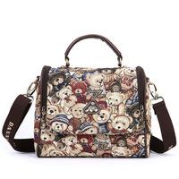 Danny Bear Printing Women Handbag Messenger Bags Canvas Shoulder bags Casual Tote Bag BFK0201