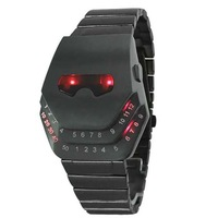 2014 fashion Snake Head Design watch with Blue LED red led lighting & Stainless Steel Strap Kaavie Masked men women watch