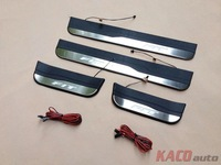 LED Door Sill for Honda Fit Jazz 2014 3 Gerneration Free Shipping