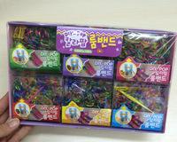 Free Shipping 18packs/lot South Korea Trendy colorful loom bands handmade DIY bracelets