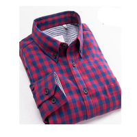 High Range Flannel Male Long Sleeve Shirt New Arrival Spring And Autumn Pure Cotton Six Colors Slim Fit Fitness Plus Size