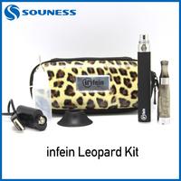1pc/lot Ego-CE4 leopard Zip Single Kit Huge Vapor Electronic Cigarette Ego CE4 Starter Kit Free Shipping (1*inFein ce4 s-lzip)
