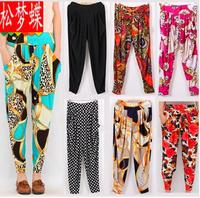 2014 New Designer Fashion Loose Large Size Women Leggings Pant 20 Styles Harem Pants Printed Ice Milk Cool Lady Summer Leggings