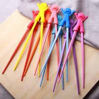 Qiyun Ruber Safe Smile1 Pair Randomly Send Training Chopsticks Kids With Holder New Pauzinhos Essstabchen Baguettes Palillos