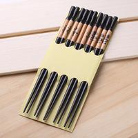Qiyun Vintage Dragon 5 Pairs Black  Bamboo Wood Spick Chopsticks Women'S Hairsticks Pauzinhos Essstabchen Baguettes Palillos