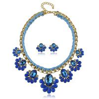 Europe Hot New Jewelry Sets Statement Choker Neacklace + Earring Jewellery Set