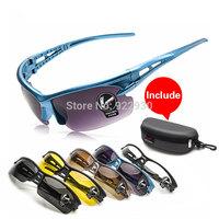 Free Shipping New Cycling Bicycle Bike Sports Eyewear Fashion Sunglasses Men/Women Riding Fishing Polarized PC Glasses Colors