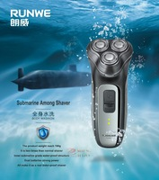 RUNWE RS980 Water Proof Electronic Shaver three heads knives rechargable, retail package, free shipping