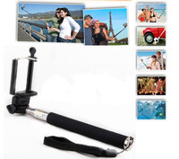 MOQ 1set Gopro Handheld Monopod selfie stick Camera Tripod Mobile phone Monopod + 1PCS cellphone holder for iphone,i9300,S4,S5