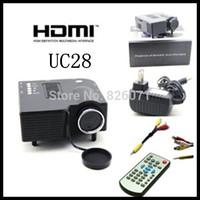 "5pcs UC28 PRO HDMI Mini HD Home LED Projector 60"" Cinema Theater, PC Laptop VGA Input USB"