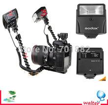 Photo Studio Accessories Macro Shooting Dual-arm Bracket + Mini Flash CF-18 PC Sync Set for Canon Nikon DSLR Camera