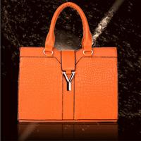 2014 New Fashion High-grade PU Y-shape Letter Genuine Leather Shoulder Handbag Leather Messenger Bag Purse Tote All-match