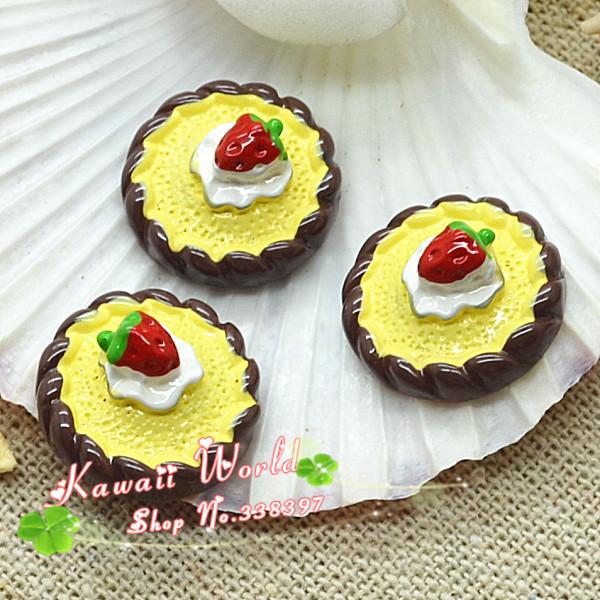 wholesale resin flat back chocolate dessert for decoration free shipping 100pcs 20mm(China (Mainland))