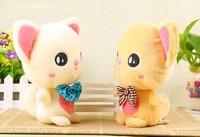 2014 18cm  Creative plush toys Couples bear  Small gift dolls