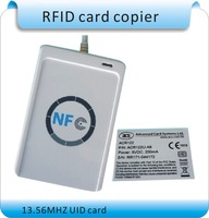 Free shipping Access Control ACR122U 13.56MHZ  NFC Tags RFID copier/ IC card  Reader & Writer + 1 SDK CD + 50 Pcs UID(IC) cards