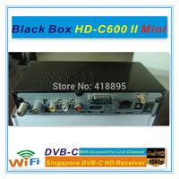 Free shipping+wifi dongle,BLACKBOX HDC600 II mini blackbox mini Singapore starhub box cable tv receiver support BPL +HD channels