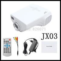 """2pcs Mini LED Video Projector """"jx-03 Hdmi projectors"""" - 320x240, 200:1, VGA and Hdmi Port -yellow"""