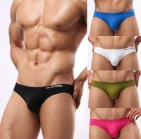 5pcs Mens Sexy Underwear Briefs Brave Person Brand Nylon Gay Wear Pouch Wonderjock Brief for Man 2014 New Swimwear Bikini Swim