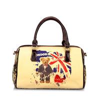 Danny Bear UK Flag Printing Bag Women Handbag Fashion Duffle Bag Shoulder Bag DB12553-3