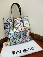 Free shipping new 2014 brand bag women's handbag Issey MIYAKE BAOBAO metal color handbag women's big bag laser 8 color hot sell