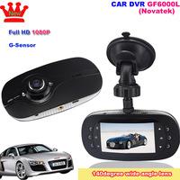 Novatek Chipset Car DVR Camera GF6000L 2.7 Inch 720P Full HD 140 Degree G-Sensor+IR Night Vision Dash Camcorder,Free Shipping