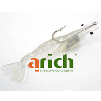 10.5cm Plastic Transparent Noctilucent Simulation Ultra-realistic Lifelike Soft Shrimp for Fishing