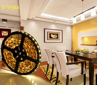 Free Shipping 5M DC12V SMD5050 Flexible LED Light Strip, Non-Waterproof Super Bright 60LED/m SMD5050 Yellow Color LED Strip Lamp