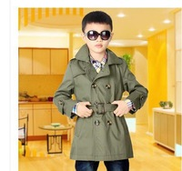 Spanoulis gul    children's wear boy's trench coat in 2014 autumn outfit child long double row children trench coat