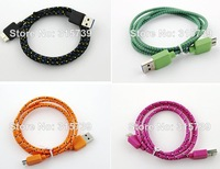 1M Fabric Nylon USB 3.0 Micro Braided Data Sync Charging Cable 3ft Cord for Samsung Galaxy Note 3 Note3 N9000 N9008