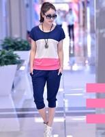 Summer Girls Clothing Sets Casual Brand Set Female Sportswear Set Short-sleeve Sports Pants Women's Sports Suit