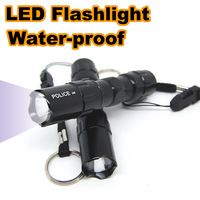 LED Flashlight Waterproof electric torch Aluminium body high quality