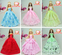 30items=10dress+10 shoes+10accessories Party Doll's Dress Clothes Gown For Barbie doll 20 stye for you choose