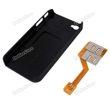 dollarcare Triple 3 SIM Card Adapter Converter with Back Case Cover Stand for iPhone4 4S Hot