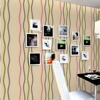 Fashion tv pvc wallpaper waterproof vinyl paper decorative 3d wall panels tapetes papel de parede kids vintage for living room