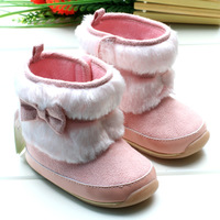 Toddler baby shoes Pink keep warm baby girl boots Rubber bottom Non-slip shoes 2014 New style Winter design
