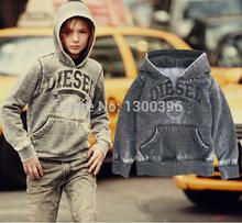 Children sport clothing Baby boy fashion hoodies Vintage style Sweatshirts kids autumn jacket coat washing Free shipping(China (Mainland))