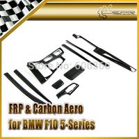 For BMW F10 5 Series Real Carbon Fiber Interior Trim Cover Set  9PCS LHD