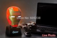 6pcs Iron Man Piggy Bank / Coin Bank + Touch Sensor USB Light  / Free Shipping Talking Iron Man