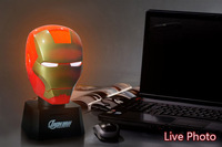 6pcs Iron Man Piggy Bank / Coin Bank + Touch Sensor USB Light  / Free Shipping Talking Iron Man