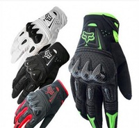 Motocross Off-road Bomber Racing Riding Cycling Fox Bicycle Sports Full Finger ATV Motorcycle Gloves Carbon fiber Armed Mittens