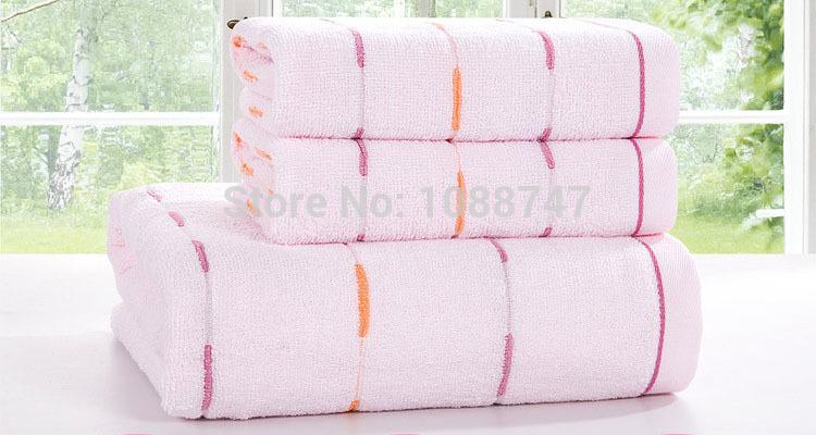 100% cotton face towel 2pc 33x73cm and bath towel 1pc 70x140cm gift set super soft terry washclothes bathroom beach towels J009A(China (Mainland))