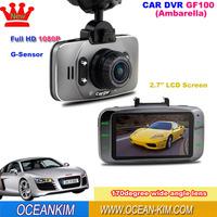 GF100 Original Ambarella Car DVR 1080P Full HD Camcorder Video Recorder 170 Degree Wide Angle Lens IR Night Vision Touch Button