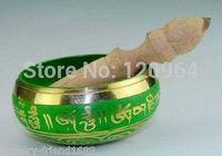 diameter 4.5*8cm  Fashion Tibetan green Buddhism Cuprum Singing Bowl Antique Copper Bronze Bowls