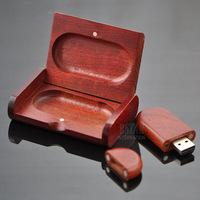 High Quality  Hot-Selling Best Gift Red color wooden box shape 8GB 16GB 32GB USB 2.0 Flash Memory Stick Driver U Disk USB552