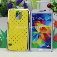 CN 5pcs for S5 New shining stars Chrome Rhinestone High quality Skin Hard Cover Case for Samsung S5 I9600 ,pt0404